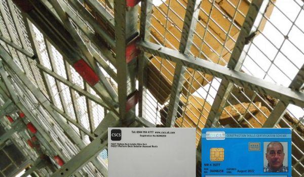 CSCS card for RhinoDeck training