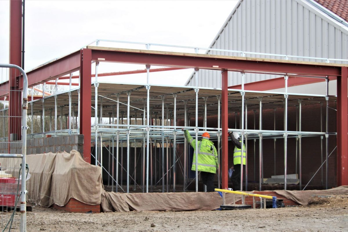 co-op job - used for installation of roof trusses